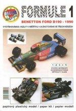 Formule 1: Benetton Ford B190 - 1990/papírový model