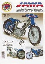 Plochodrážní motocykl JAWA 884.5/ papírový model