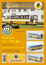 Karosa LC 735.00 rok výroby 1982 - 1985 /papírový model
