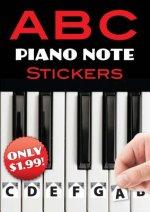B C Piano Note Stickers