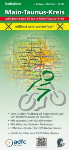 Radfahren - Main-Taunus-Kreis 1:30.000