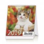 Mini Kittens- stolní kalendář 2019