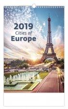 Cities of Europe - nástěnný kalendář 2019