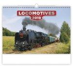 Locomotives - nástěnný kalendář 2019