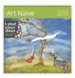 Art Naive - nástěnný kalendář 2019