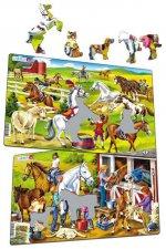 Puzzle MIDI - Koně/26 dílků (2 druhy)