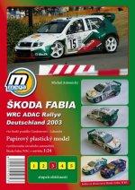 Škoda Fabia WRC ADAC Rallie Deutschland 2003/papírový model