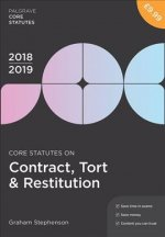 Core Statutes on Contract, Tort & Restitution 2018-19