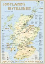 Whisky Distilleries Scotland - Poster 70x100cm Standard Edition