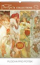 Alfons Mucha 2019 - nástěnný kalendář
