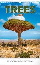 Stromy 2019, 33 x 46 c- nástěnný kalendář 2019