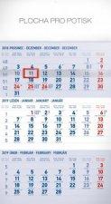 3 měsíční standard mod - nástěnný kalendář 2019