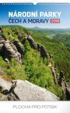 Národní parky Čech a M- nástěnný kalendář 2019