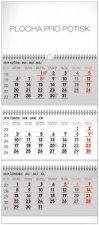 3 měsíční standard skl - nástěnný kalendář 2019