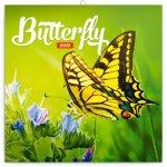Poznámkový kalendář Motýli 2019