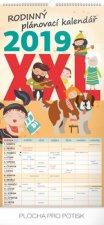 Kalendář nástěnný 2019 - Rodinný plánovací XXL, 33 x 64 cm