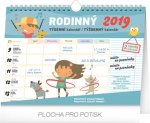 Kalendář 2019 - Týdenní rodinný plánovací s háčkem, 30 x 21 cm