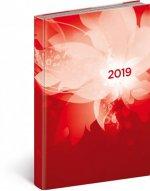 Denní diář Cambio 2019, červený, 15 x 21