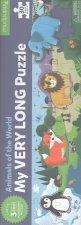 My Very Long Puzzle: Animals of the World/Dlouhé puzzle: Zvířata světa (30 dílků)