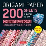 Origami Paper 200 sheets Cherry Blossoms 6 inch (15 cm)