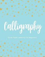 Calligraphy Guide Paper Lettering For Beginners: Gold Dot Cover, Hand Lettering Practice Book, Line Workbook, 8