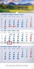 3 mesačný Tatry modrý - nástenný kalendár 2019
