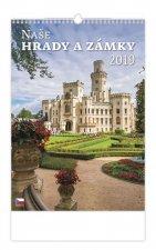 Naše hrady a zámky - nástěnný kalendář 2019
