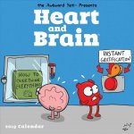 Heart and Brain 2019 Square Wall Calendar
