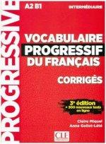 Vocabulaire progressif du Français, Niveau intermédiaire (3ème édition), Corrigés + Audio-CD