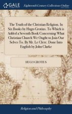 Truth of the Christian Religion. in Six Books by Hugo Grotius. to Which Is Added a Seventh Book Concerning What Christian Church We Ought to Join Our
