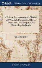 Full and True Account of the Woefull and Wonderfull Apparition of Hurloe Harrington, Late Prompter to the Theatre-Royal in Dublin
