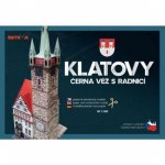 Klatovy - Černá věž s radnicí - Papírová stavebnice modelu