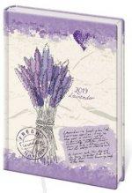 Diář 2019 A7 LYRA týdenní Lavender