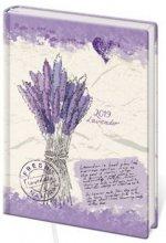 Diář 2019 B6 LYRA týdenní Lavender