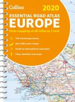 2020 Collins Essential Road Atlas Europe