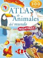 Atlas de animales del mundo con pegatinas