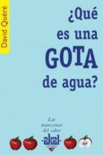 ¿Qué es una GOTA de agua?