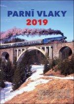 Parní vlaky - nástěnný kalendář 2019