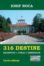 316 Destine: Sacrificiu. Curaj. Demnitate. Editia Color: Carte-Album