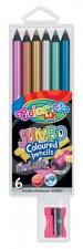 Kredki okrągłe JUMBO Metaliczne 6 kolorów