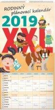 Rodinný plánovací XXL kalendár - nástenný kalendár 2019