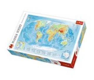 Mapa světa 1000 dílků