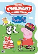 Tvarované vymaľovanky so samolepkami Peppa Pig