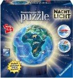 Erde im Nachtdesign, Nachtlicht 3D Puzzle-Ball 72 Teile