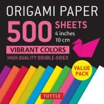 Origami Paper 500 sheets Vibrant Colors 4 (10 cm)