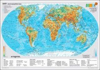Svět - obecně geografická mapa