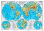 Zemské polokoule a přírodní nej - mapa A3