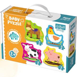Baby puzzle Zvířata na farmě 4v1