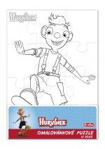 Hurvínek - omalovánkové puzzle 12 dílků/obdélník