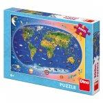Puzzle Dětská mapa XL 300 dílků
